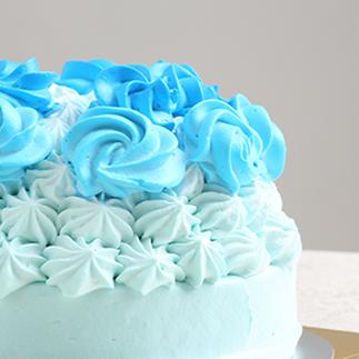 1歳の誕生日ケーキ ブルーローズ(5号)